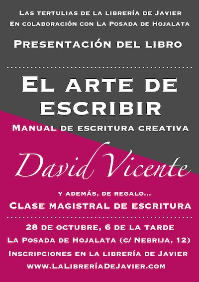 david vicente arte escribir cartel